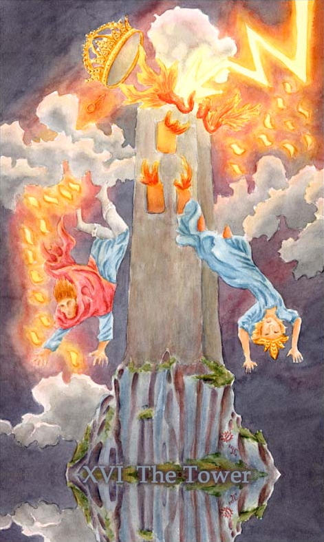 Tower (Aquatic Tarot)